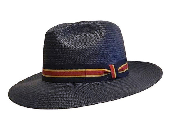 Avenel Grade 3 Navy Coloured Panama Hat