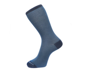 Fortis Green Men's Socks in Navy Fine Stripes