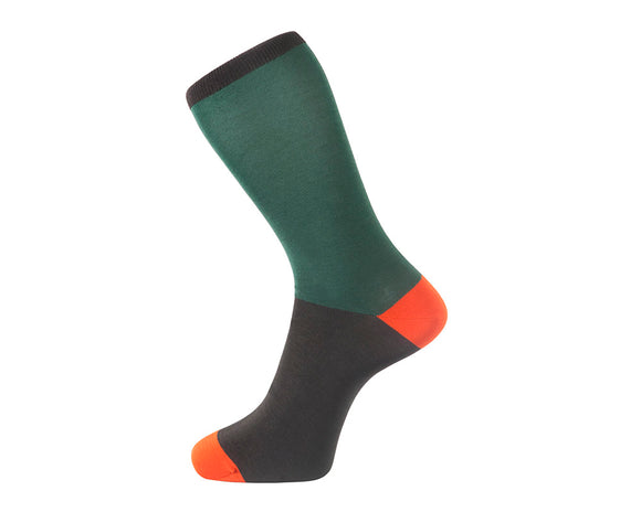 Fortis Green Block Colour Men's Socks in Green