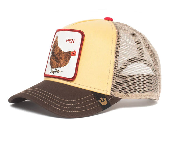 Goorin 'Hen' Trucker Style Baseball Cap in Yellow