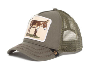 Goorin 'Ass' Trucker Style Baseball Cap in Olive