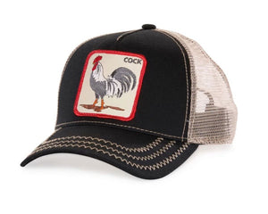 Goorin 'Rooster' Trucker Style Baseball Cap in Black