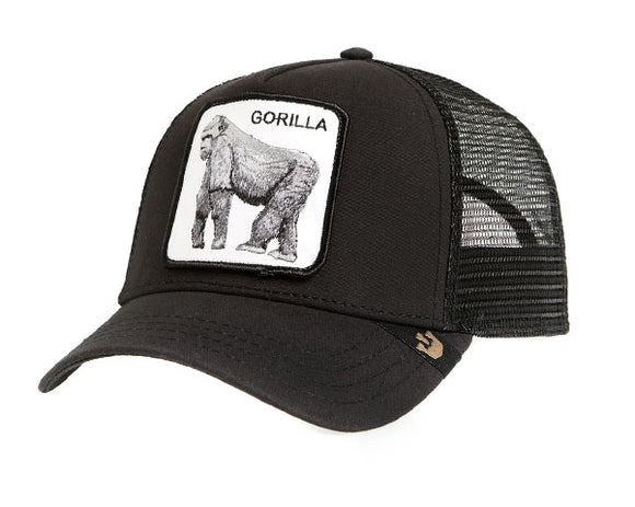 Goorin 'King Of The Jungle' Trucker Style Baseball Cap in Black