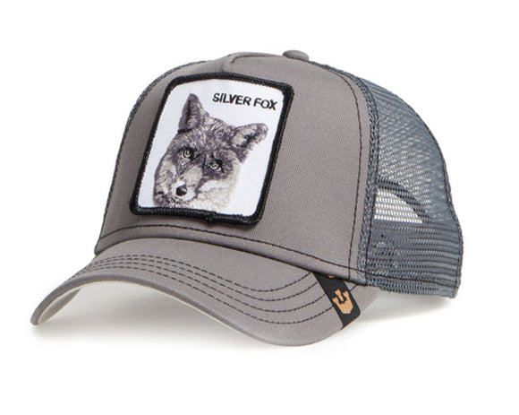 Goorin 'Silver Fox' Trucker Style Baseball Cap in Grey