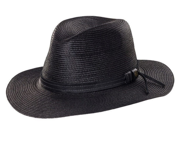 Goorin 'Dawn' Large Brimmed Ladies' Fedora in Black