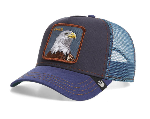 Goorin 'Flying Eagle' Trucker Style Baseball Cap in Navy