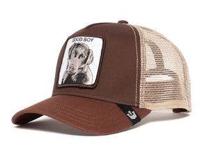 Goorin 'Good Boy' Trucker Style Baseball Cap in Brown