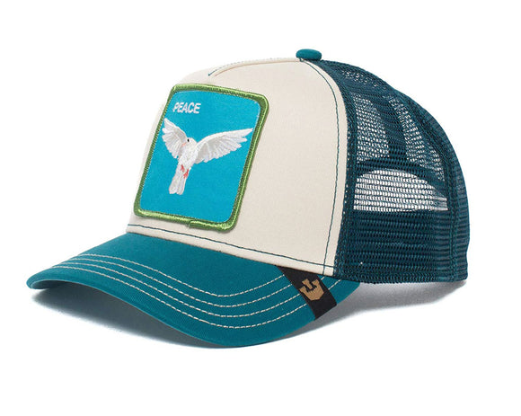 Goorin 'Peace Keeper' Trucker Style Baseball Cap in Teal