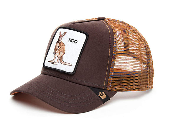 Goorin 'Roo' Trucker Style Baseball Cap in Brown