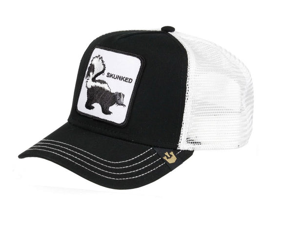 Goorin 'Skunked' Trucker Style Baseball Cap in Black
