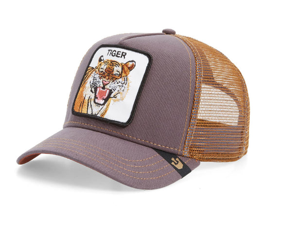 Goorin 'Tiger' Trucker Style Baseball Cap in Brown