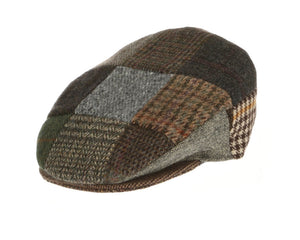 Hanna Hats Flat Cap in Vintage Patchwork Tweed