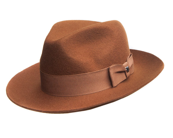 Hills Hats Merino Wool Fedora in Tan