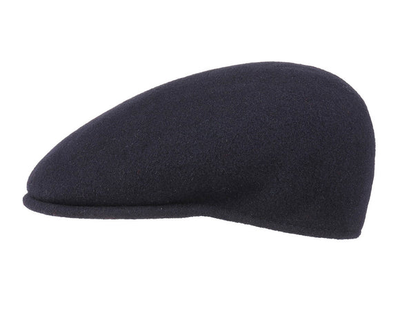 Kangol 504 Flat Cap in Navy Wool