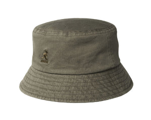 Kangol Washed Cotton Bucket Hat in Smog