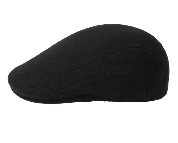 Kangol 507 Wool Flat Cap in Black