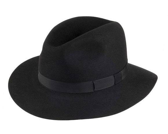 Olney 'Crushable' Fur Felt Fedora in Black