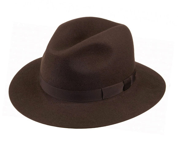 Olney 'Crushable' Fur Felt Fedora in Sable Brown