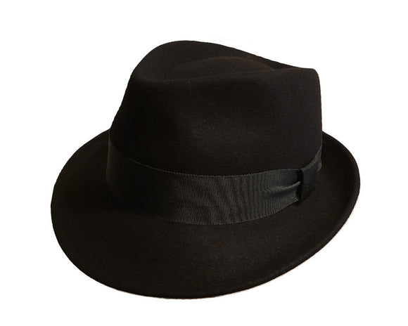 Olney 'Frank' Fur Felt Trilby in Black