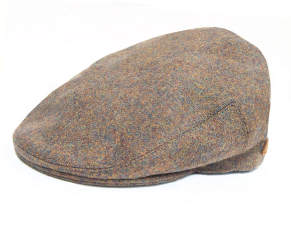 Olney 'Worcester' Flat Cap in Khaki Boiled Wool