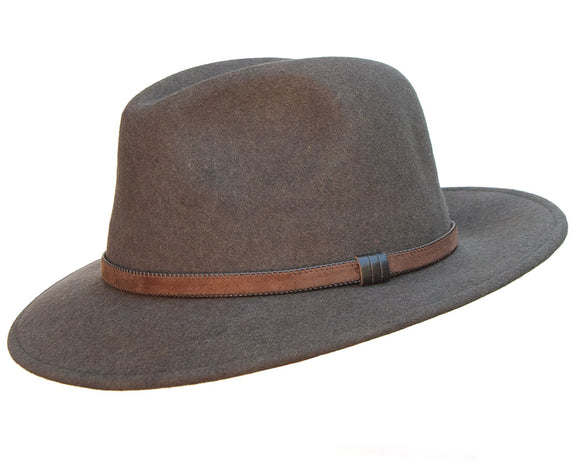 Stanton 'Laurence' Italian Made Foldable Wool Felt Fedora in Fawn
