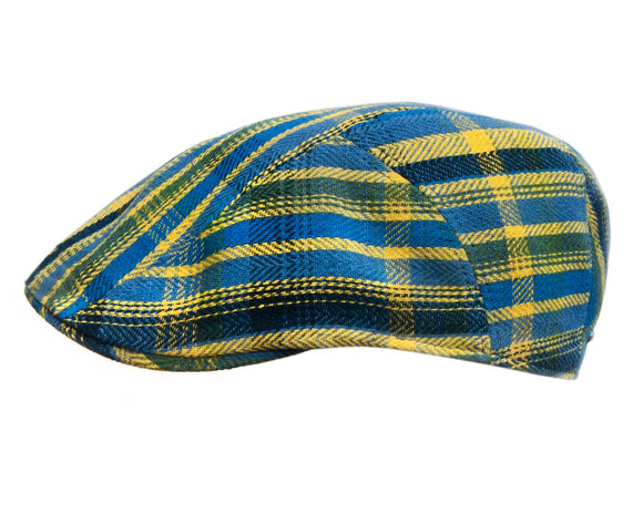 Stetson Cotton/Linen Ivy Flat Cap in Bright Checks