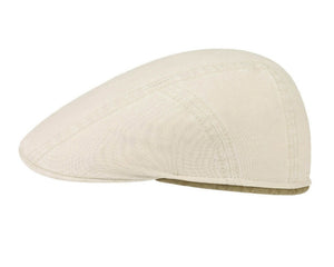 Stetson 'Delave' Organic Cotton Ivy Flat Cap in Natural