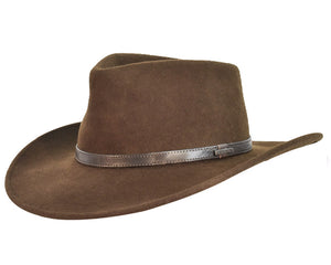 Stetson 'Horizon' Wool Hat in Chocolate Brown