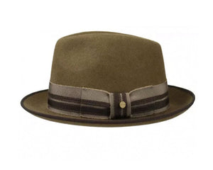 Stetson 'Player' Wool Felt Trilby in Olive