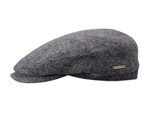 Stetson 'Woolrich' Driver Style Flat Cap in Grey