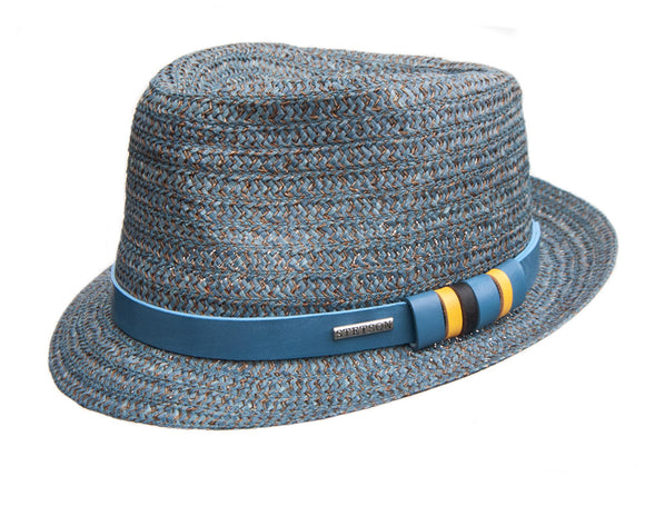 Stetson Hemp Trilby in Teal