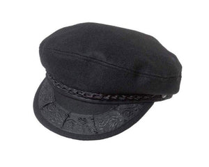 Greek Fisherman's Cap in Black Wool