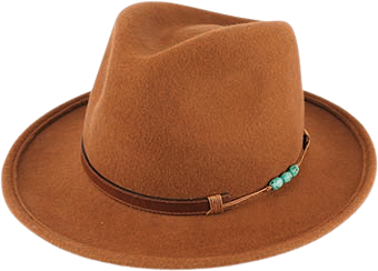 Foley Wool Felt Fedora in Cognac