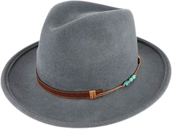 Foley Wool Felt Fedora in Grey