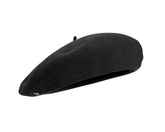 Laulhère Traditional Basque Béret in Black