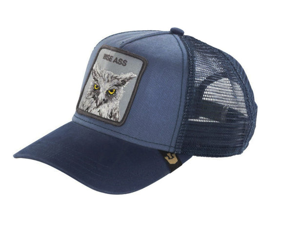 Goorin 'X the Owl' Trucker Style Baseball Cap in Navy