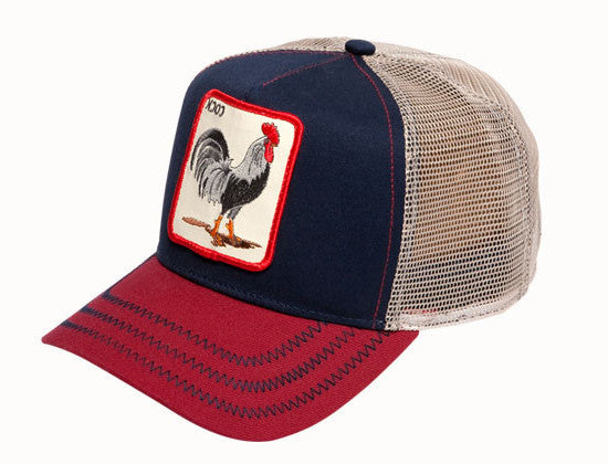 Goorin 'All American Rooster' Trucker Style Baseball Cap in Navy