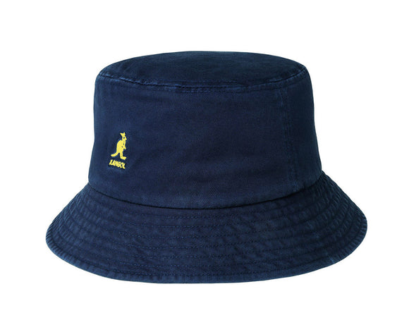 Kangol Washed Cotton Bucket Hat in Navy