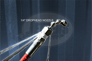 "1/4"" Drophead Nozzle w/Knuckle Leader, Stainless Steel"
