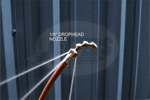 "1/8"" Drophead Nozzle w/Knuckle Leader, Stainless Steel"