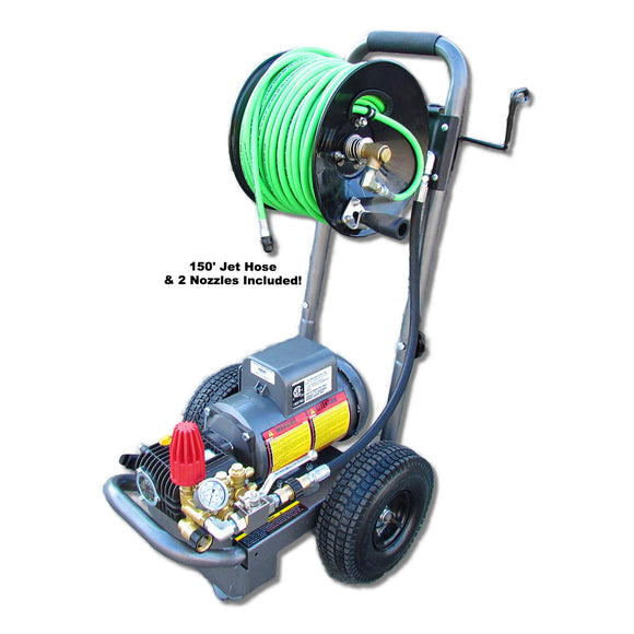 Jetters Northwest 1.5 HP Portable-Dolly Electric Sewer/Drain Jetter - 1500 PSI