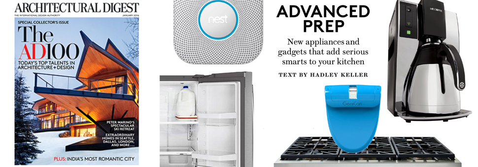 Architectural Digest Jan 2016 Smart Kitchen Tech Feature