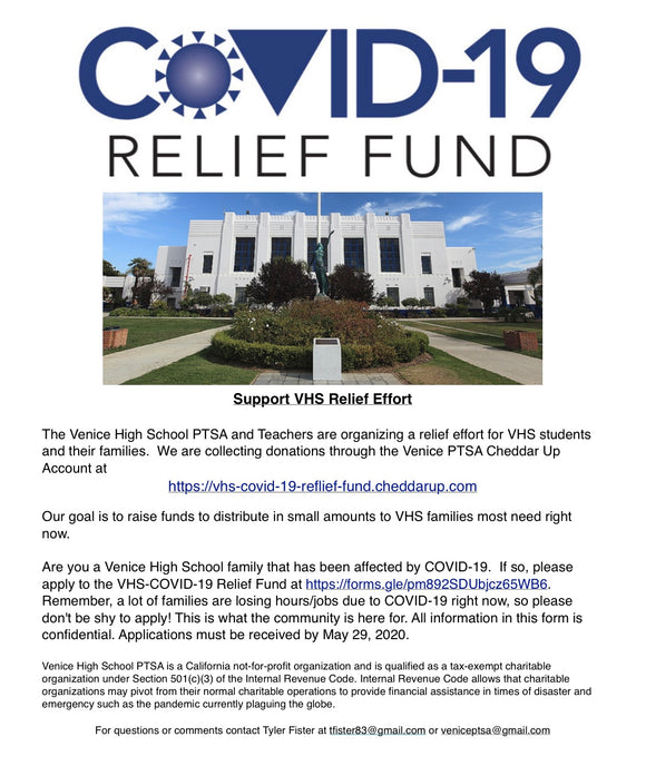 Covid-19 Relief Fund for Venice High School Students and Families