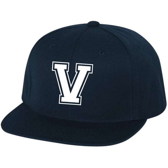 VENICE V Embroidered on Yupoong -Classics Flat Bill Snapback Cap