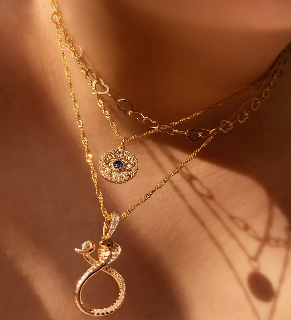 Delicate Heart Chain Necklace
