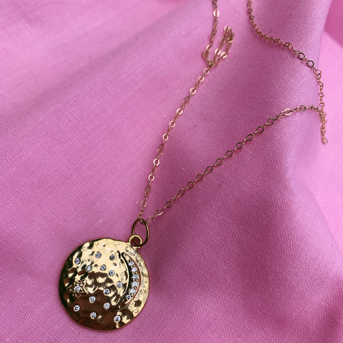 Moon Medallion Necklace