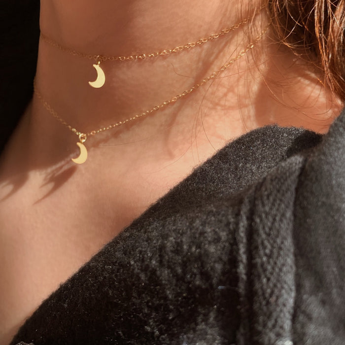 Simple Crescent Necklace