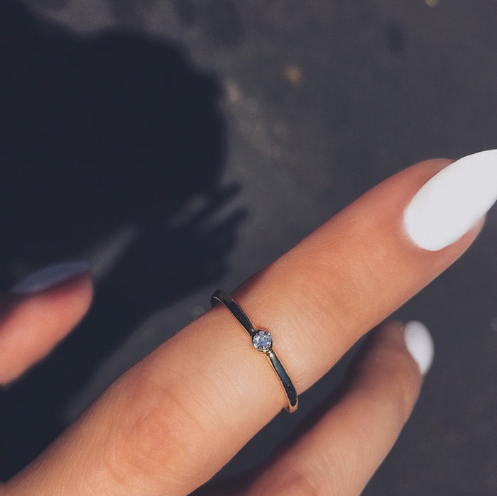Baby Crystal Midi Ring