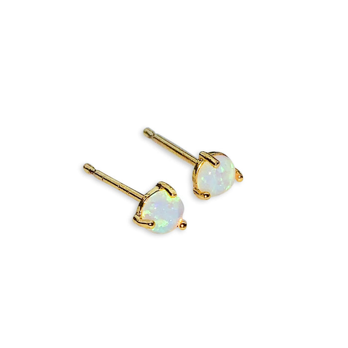 Dainty Opal Stud Earrings