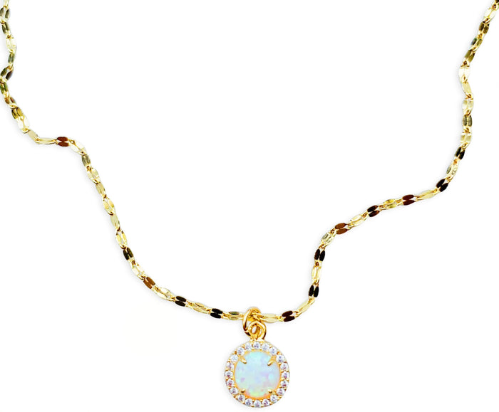 Opal Pavé Marina Necklace